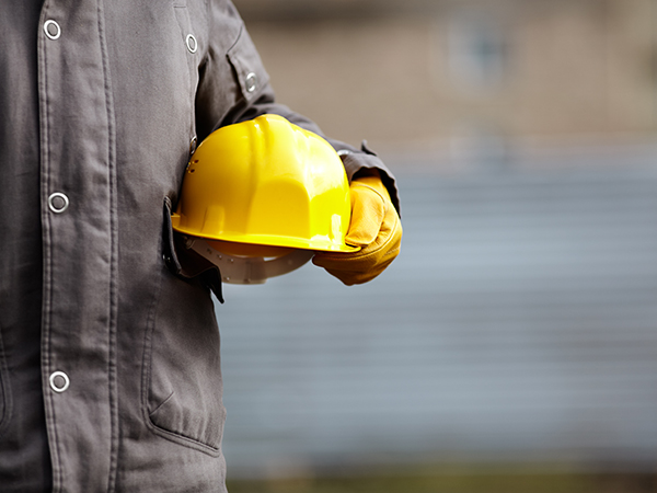 Worker and Hard Hat